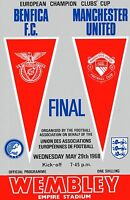 Football Programme Cover Reprints Benfica v Man. Utd. European Cup Final 1968