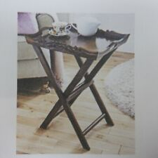 Solid Wood Hand Carved Tray Table  *NEW*