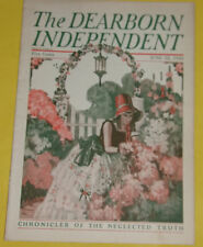 Dearborn Independent Magazine June 12, 1926 Lady in Flower Garden cover SEE!