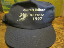 Detroit Edison(Electric Co) Ice Storm 1997 Navy Blue Snapback Baseball Hat-