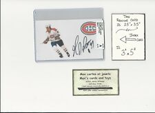 Gilbert Delorme Montreal Canadiens AUTOGRAPH AUTO INDEX HOCKEY CARD 100% COA