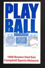 Boston Red Sox--1988 Pocket Schedule--Campbell Sports Network