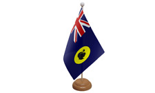Western Australia Table Flag with Wooden Stand
