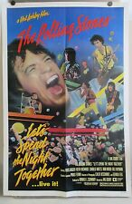 """1982 THE ROLLING STONES LET'S SPEND THE NIGHT TOGETHER MOVIE PROMO POSTER 41"""""""
