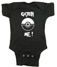 """Pokemon One Piece """"Catch Me Pokeball Pokemon Go"""" Baby Bodysuit"""