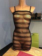 Mini Kleid Strand Dessous Bett transparent schwarz NEU Gr. S/M elastisch Sexy