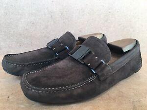 SALVATORE FERRAGAMO Sardegna Vara Buckle Brown Suede Loafer Size US8.5/UK 7.5EEE
