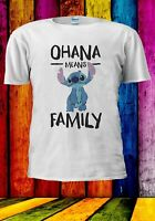 OHANA MEANS FAMILY Cute Stitch Disney Anime Manga Men Women Unisex T-shirt 2911