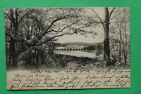 Brandenburg AK Gruss aus Potsdam 1901 Babelsberg Havel Glienicker Brücke Gebäude