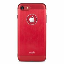 Moshi Case for iPhone 8 or iPhone 7 Armour Metallic Cover Red Pink Gold