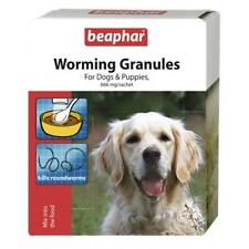 Beaphar Dog Puppy Worming Granules Wormer Roundworm Treatment Sachets 4 x 3gm