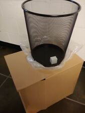 5 gal. Black Steel Round Concept Collection Wastebasket RUBBERMAID FGWMB20BK