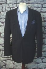 Armani Collezioni Men's Navy Blue Twill Wool Blazer Sportcoat 42L 42 Long