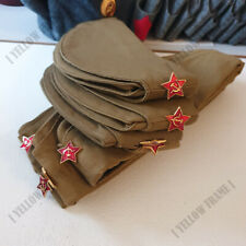 PILOTKA with Red Star Original Soldier Side Cap w/ Star Pin Vintage Style Fabric