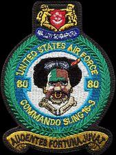 USAF 80th FIGHTER SQUADRON -COMMANDO SLING 2016-3- Kunsan AB, SK -ORIGINAL PATCH