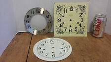3 pc clock face metal Ethan Allen, Colonial Clock Repair parts
