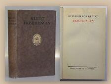 Kleist Erzählungen 1920 aus Bibliothek von Osterroth Adel Belletristik xy
