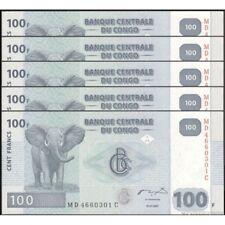 TWN - CONGO DEM. REP. 98a - 100 Francs 31/7/2007 UNC MD-C (HdM) DEALERS x 5