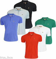 Enzo Mens Branded Pique Polo Shirts Collar Short Sleeve T-shirt Casual Top