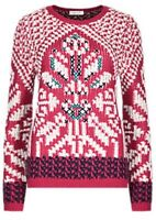 MARKS AND SPENCER PER UNA SNOWFLAKE JUMPER WITH WOOL RED 18 BNWT