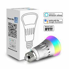 WiFi Smart Light Bulb Dimmable RGB LED E27 Lamp for Google Home /Alexa IFTTT APP