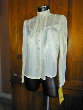 NwT Vtg 70s GUNNE SAX Jessica's Gunnies SATIN Lace Boho Wedding dress BLOUSE TOP