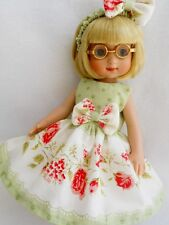 "Shabby Pink Rose Chic  Doll Dress For 10"" Tonner Ann Estelle Patsy YoYoCottage"