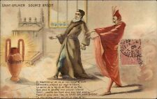 French Mineral Water Saint-Galmier Source Badoit - Mephisto c1905 Postcard