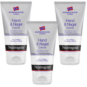 3x 75ml Neutrogena Hand And Nail Cream 4in1 Care Beautiful Hands Care