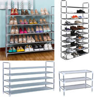 5/10 Tier Space Saving Storage Organizer Shelf Free Standing Shoe Tower Rack USA