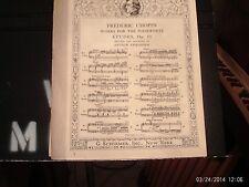 Chopin, ed. Friedheim: Etude in C Major, piano solo (Schirmer)