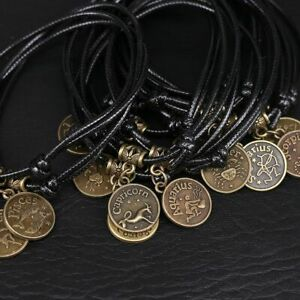 Sandal Black Rope South 12 Constellations Anklet Foot Chain Foot Jewelry