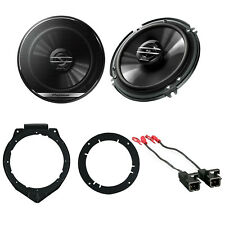 "Pioneer 6.5"" Car audio Stereo Speakers W/ Door Mounting Brackets & Wire Harness"