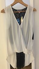 Lipsy Satin And Lace Women's Top Size 12