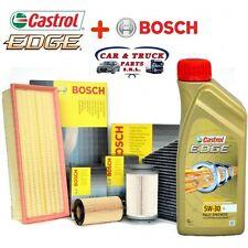 Kit tagliando olio CASTROL EDGE 5W30 5LT 4 FILTRI BOSCH VW GOLF V 1.9 TDI 105 CV