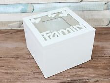 Small Family grey photo memory box keepsake storage