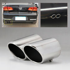 2pcs Chrome Exhaust Tail Muffler Tip Pipe for VW CC 08-14 EOS 06-14 Passat B6