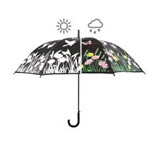 FIORI e gocce di pioggia ombrello pieghevole design per il Regno Unito Pioggia Meteo.