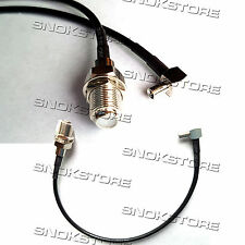 CABLE ADAPTER TS9 TO F FEMALE CAVETTO CAVO ADATTATORE CONNECTOR 20cm ANTENNA