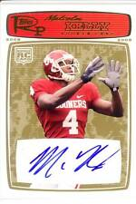 malcolm kelly rc rookie draft auto autograph oklahoma sooners ou college 9/10 08