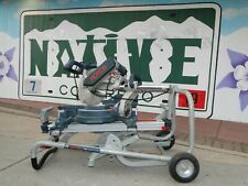 """Bosch 5312 12"""" Dual Bevel Sliding Compound Miter Saw w/ T4B Gravity Rise Stand"""