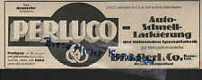 BERLIN, Werbung 1927, Dr. J. Perl & Co. PERLUCO Auto-Schnell-Lackierung Nitrozel
