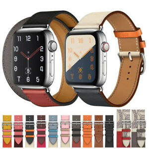 Leather Strap For Apple Watch Band 38/40/42/44mm iWatch Series 6 5 4 3 2 1 SE