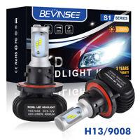 H13 9008 LED Headlight Fit Harley FXDFSE2 2010 Dyna CVO Fat Bob 6500K Bulbs Kit