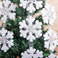 Wall Window Decor Christmas Tree 3D Foam Snowflake Hanging Decorations MW
