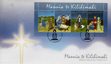 Tokelau 2013 FDC Christmas 4v M/S Cover Nativity Mary Jesus Manuia Kilihimahi