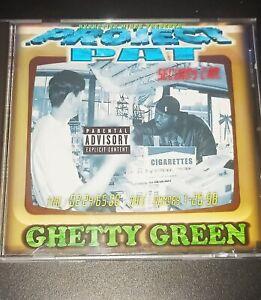 PROJECT PAT GHETTY GREEN CD RARE Memphis Rap 1999 Hypnotize Minds