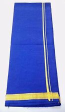 Men's Cotton Sarong Lungi Dhoti Mundu Fabric Swim Night Wear Cotton Blue Floral