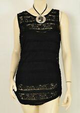 CALVIN KLEIN LACE OVERLAY WOMENS TOP LARGE