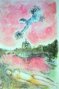 MARC CHAGALL -  Litografia original Derriere le Miroir nº 246 . 28x38 cm.